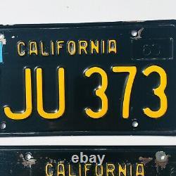 California 1963 BLACK LICENSE PLATES 1967 Impala 1967 GTO 1967 Bronco 67 Mustang