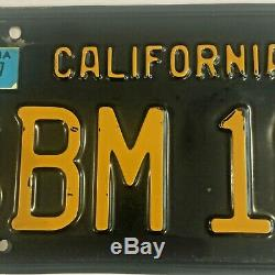 California 1963 BLACK LICENSE PLATES 1967 tag DMV clear YOM