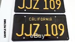 California 1963 Black License Plate Custom Replica Made of Steel 2 Plates (Pair)