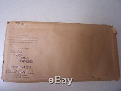 California 1963 Brand New Blk/Gold License Plate CRR 505