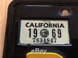 California Black License Plate pair 1963 1968 1969 Stickers