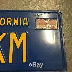 California Blue License Plate Set 1969 1970 CA Vtg Original Custom Set Matched