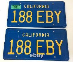 California Blue & Yellow License Plates pair NOS 1969-1979 Set CA YOM Tags eBay