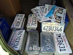 California License Plate Lot