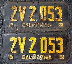 California License Plates RESTORATION SERVICE 1951 1952 1953 1954 1955 Tabs