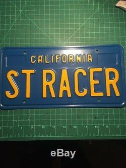 California ST RACER DMV Vanity License Plates (Blue 1970-79 &Legacy 2015-xxxx)