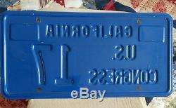 California US Congress License Plate, Political, Government, Low Number#17- 1981