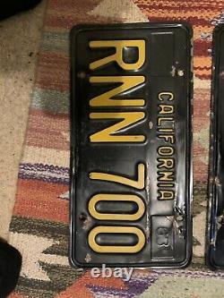 California black license plates pair 1963 RNN 700
