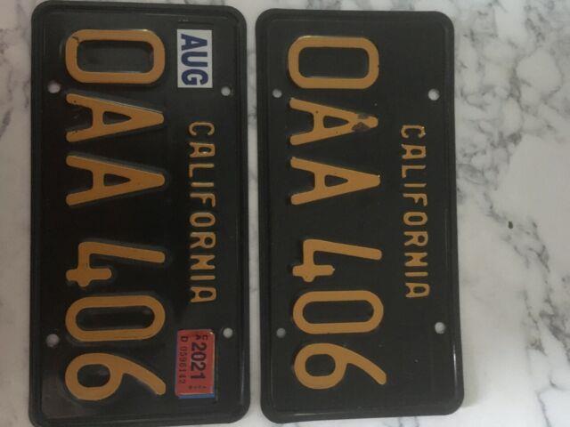 California License Plates 1963