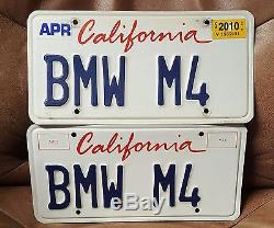 California license plates BMW M4