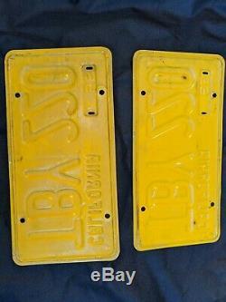 California license plates pair 1956 D. M. V Clear