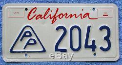 California (lipstick) Press Photographer License Plate