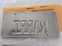 California personalized vanity license plate pair Rarri f355 Ferrari f430 458