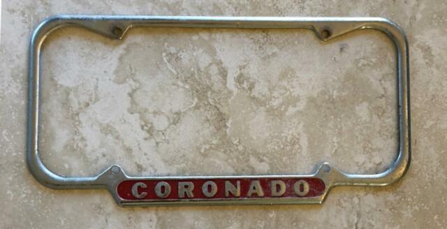 Coronado Island California Original License Plate Frame 1940 1955 San Diego