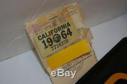 DMV CLEAR Original NOS 1963 California Black License Plates with1964 TAG in BAGGIE