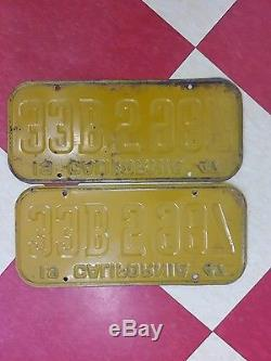 Dmv clear 1947 California license plates yom