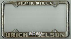 East Los Angeles California Urich-Nelson Mercury Vintage License Plate Frame