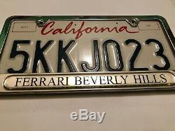 Ferrari Beverly Hills Car Dealer License Plate Frame & New California Plate