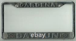 Gardena California Datsun Vintage JDM 210 240 280 510 Dealer License Plate Frame