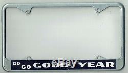 Go-Go Goodyear Vintage NHRA Drag Racing California Hot Rod License Plate Frame