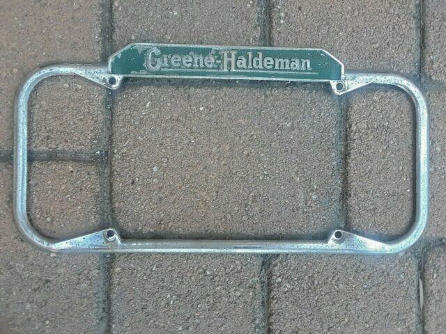 Greene-haldeman Vintage California License Plate Frame- Fits 1940-1955 Stamped