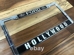 Hollywood California Ford Vintage Dealer License Plate Frame