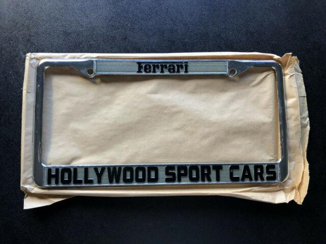 Hollywood Sport Cars Ferrari Dealership Cars License Plate Frame California
