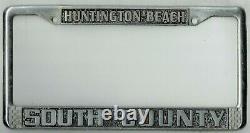 Huntington Beach California South County Volkswagen Vintage License Plate Frame