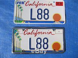 L88 California Vanity License Plate 1 of 1 Valid, Registered & Transferable