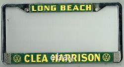 Long Beach California Clea Harrison Volkswagen Vintage VW License Plate Frame