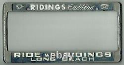 Long Beach California Ridings Cadillac Vintage GM Dealer License Plate Frame