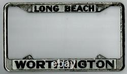 Long Beach California WORTHINGTON FORD vintage dealer license plate frame