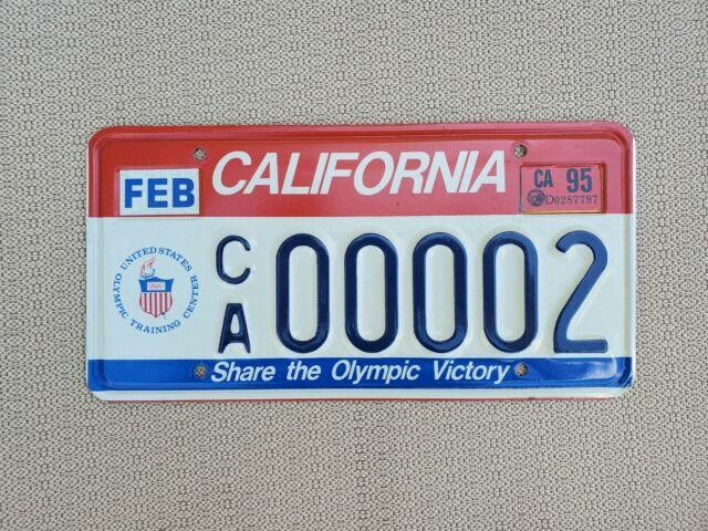 Los Angeles California Olympic License Plate Ca 00002