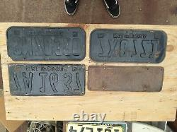 Lot Of (4) Old California License Plates