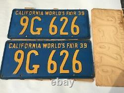 MIP Vintage 1939 California World's Fair License plate's DMV clear