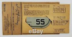 Mint NOS 1955 55 California License Plate Year TAB TAG DMV YOM