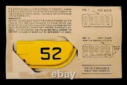 Mint NOS SAMPLE 0000000 1952 52 California License Plate Year TAB TAG DMV