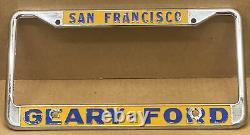 NICE VINTAGE PAIR GEARY-FORDSAN FRANCISO CALIFORNIA DEALER License Plate Frame