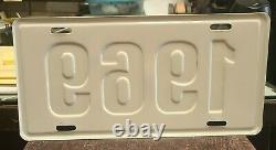 NOS 1969 Dealer License Plate Chevy Ford Dodge Plymouth Camaro Pace Car Mustang