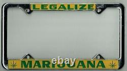 NOS 1970's Legalize Marijuana Vintage Pot Weed California License Plate Frame