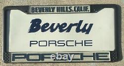 NOS Beverly Hills California Porsche Vintage 911 912 Dealer License Plate Frame