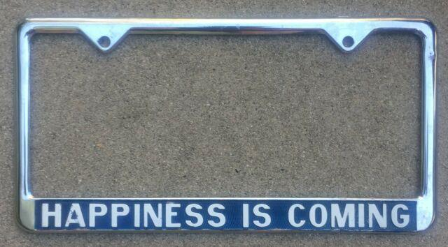 Nos Happiness Is Coming Vintage California Rare Vw Dealer License Plate Frame