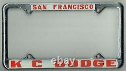 NOS San Francisco California KC Dodge Vintage MOPAR Dealer License Plate Frame