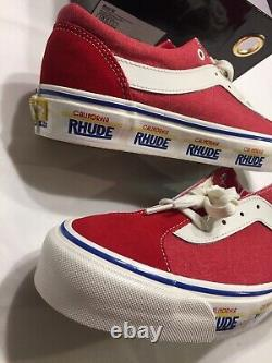 NWOB VANS x Rhude Bold Ni California License Plate Red Shoes Sz 10