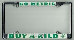N. O. S. Go Metric Buy A Kilo Vintage California Marijuana License Plate Frame