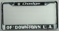 N. O. S. Los Angeles California Downtown Dodge Vintage Dealer License Plate Frame