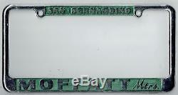 N. O. S. San Bernardino California Moffatt Volkswagen Vintage License Plate Frame