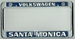 N. O. S. Santa Monica California Volkswagen VW Vintage RARE License Plate Frame