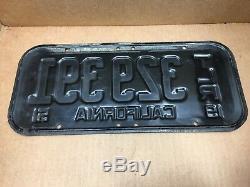 Nice Rare DMV Clear 1951 Trailer (california) Tlr 329 391 License Plate-vintage