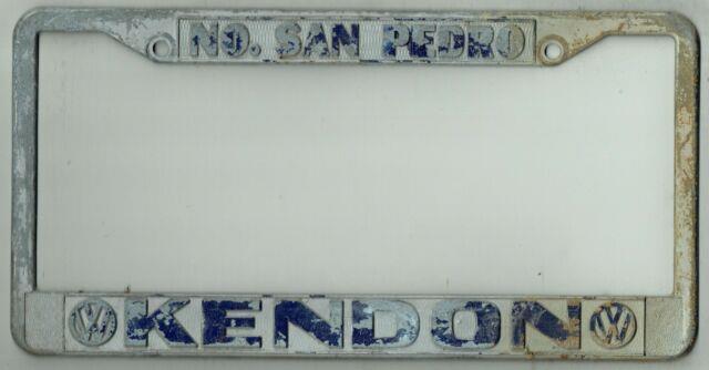North San Pedro California Kendon Volkswagen Porsche Vintage License Plate Frame